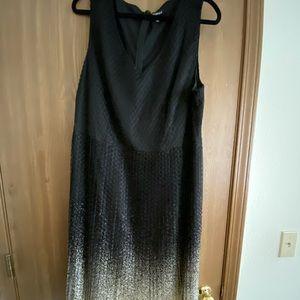 Elegant Black and Gold Dress.